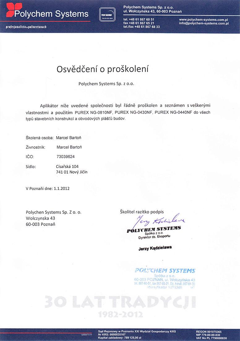 Polychem certifikát